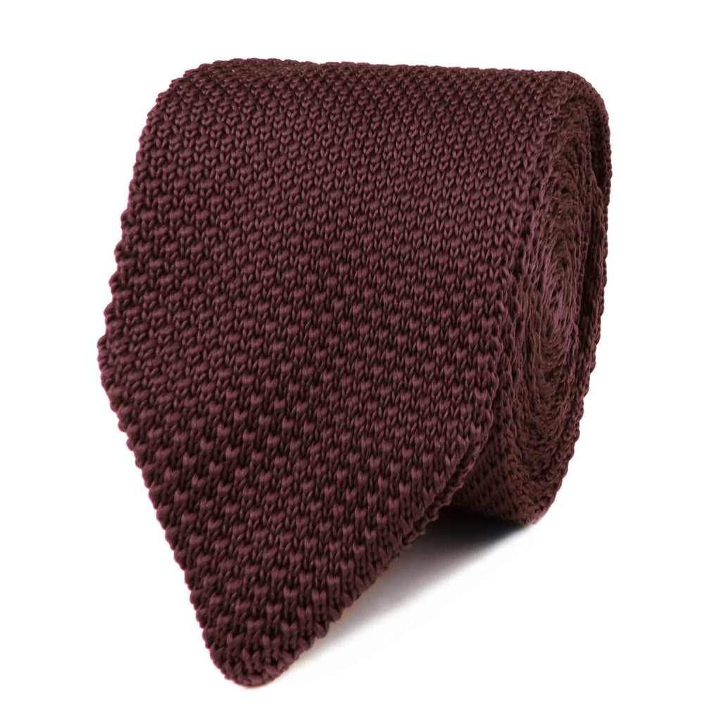 Hiraeth Brown Knitted Tie