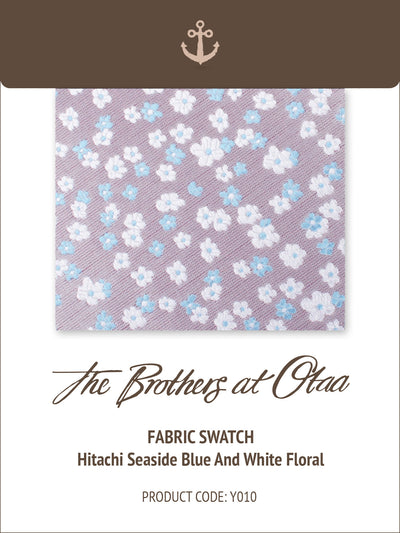 Fabric Swatch (Y010) - Hitachi Seaside Blue and White Floral