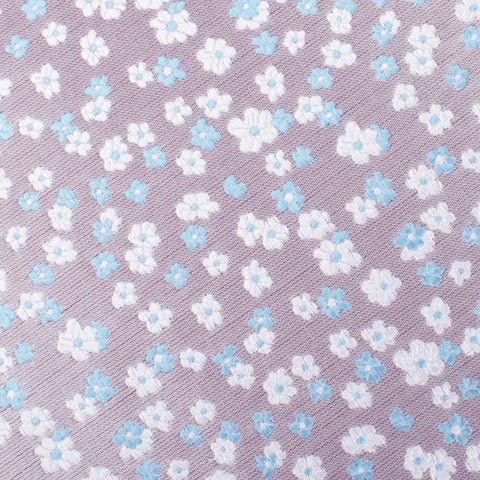 Hitachi Seaside Blue and White Floral Bow Tie