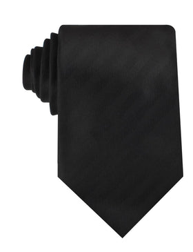 Hitchcock Midnight Black Striped Necktie