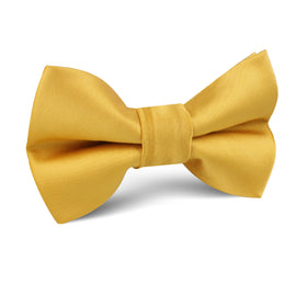 Honey Gold Yellow Satin Kids Bow Tie