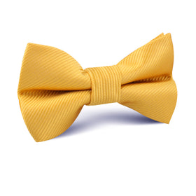 Honey Gold Yellow Twill Kids Bow Tie