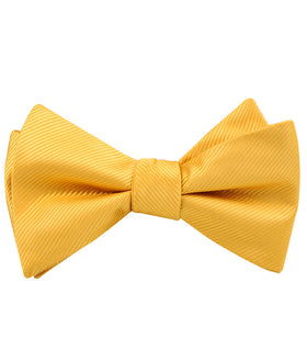 Honey Gold Yellow Twill Self Bow Tie