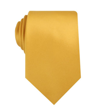 Honey Gold Yellow Satin Necktie