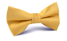 Honey Gold Yellow Twill Bow Tie