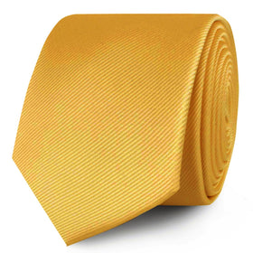 Honey Gold Yellow Twill Skinny Tie