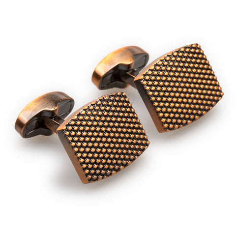 Honeycomb Antique Copper Cufflinks