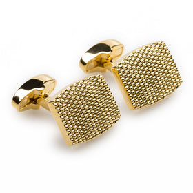 Honeycomb Gold Cufflinks