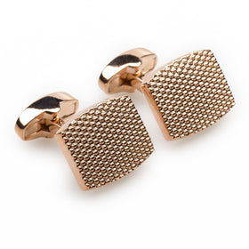Honeycomb Rose Gold Cufflinks