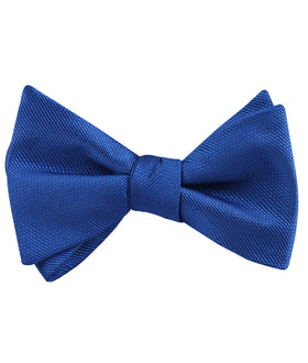 Horizon Blue Weave Self Bow Tie