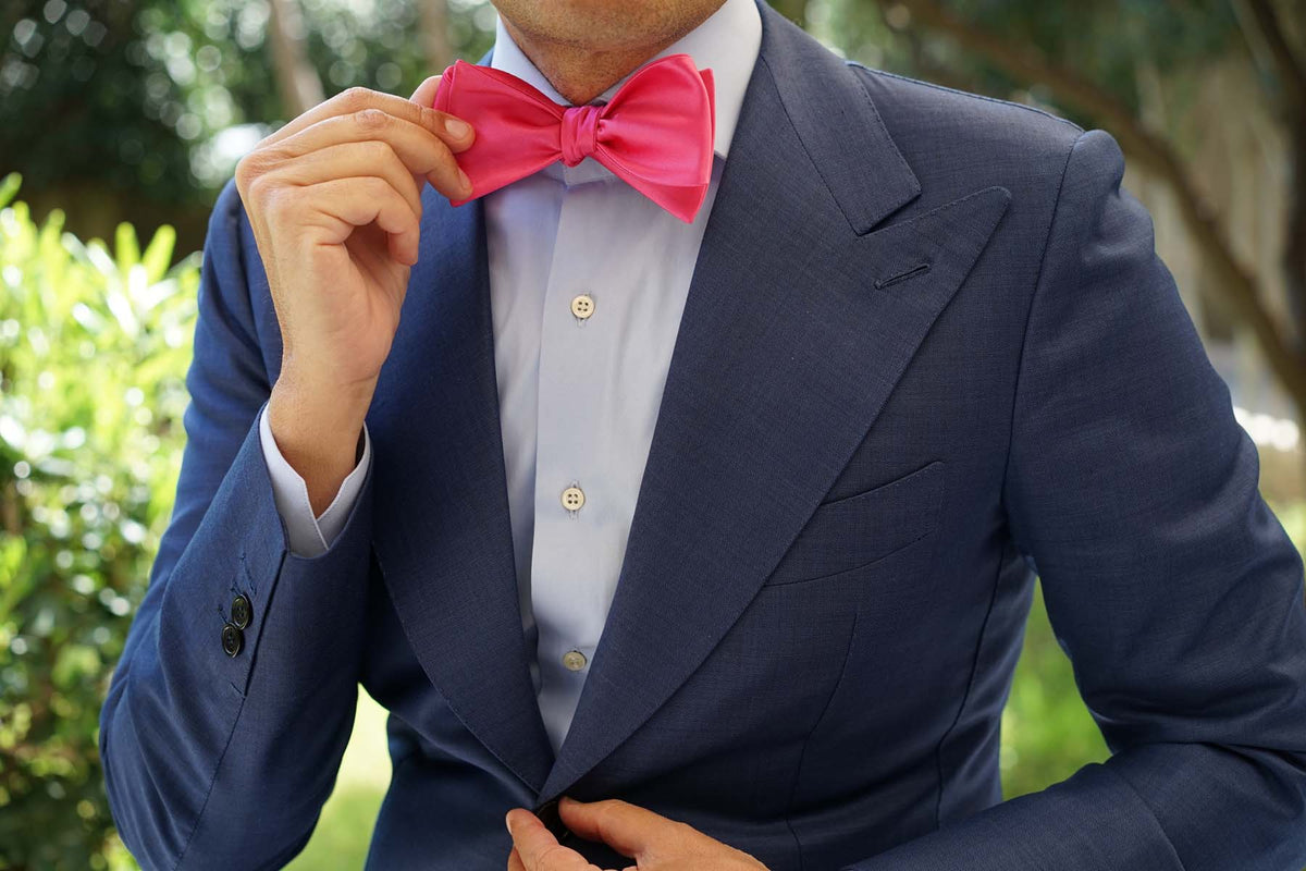 Hot Pink Bow Tie Untied