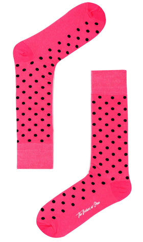 Hot Pink Dot Socks