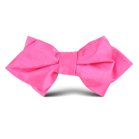 Hot Pink Kids Diamond Bow Tie