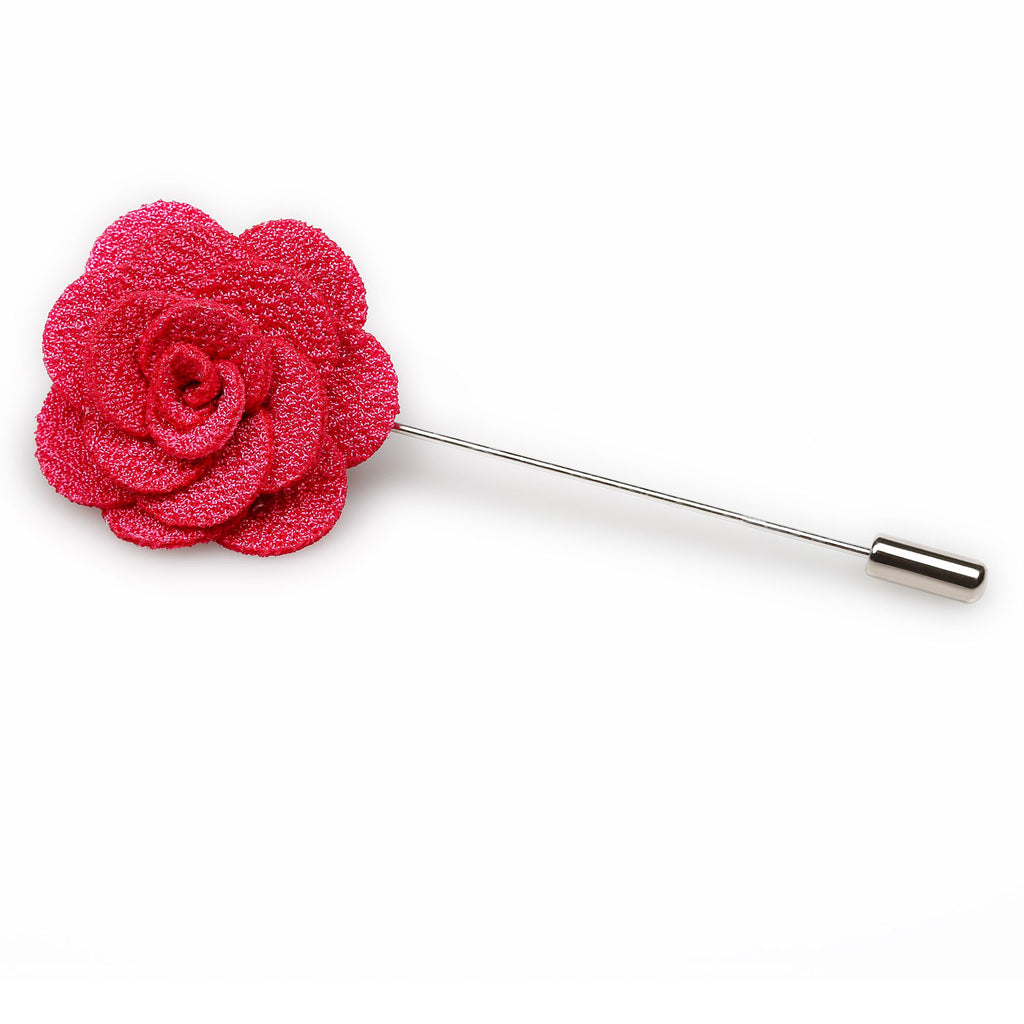 Hot Pink Mini Lapel Flower
