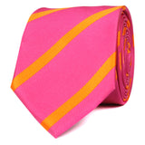 Hot Pink with Orange Diagonal - Skinny Tie OTAA roll