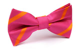 Hot Pink with Orange Diagonal Bow Tie