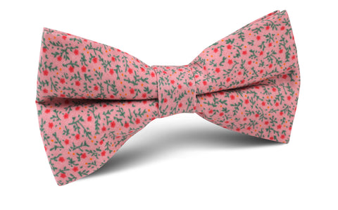 Houston Pink Floral Bow Tie