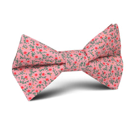 Houston Pink Floral Kids Bow Tie