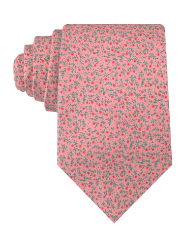 Houston Pink Floral Necktie
