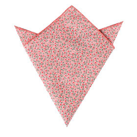 Houston Pink Floral Pocket Square