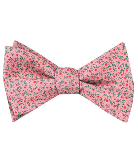 Houston Pink Floral Self Bow Tie