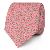 Houston Pink Floral Skinny Ties