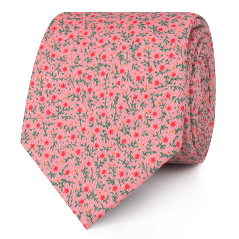 Houston Pink Floral Skinny Tie