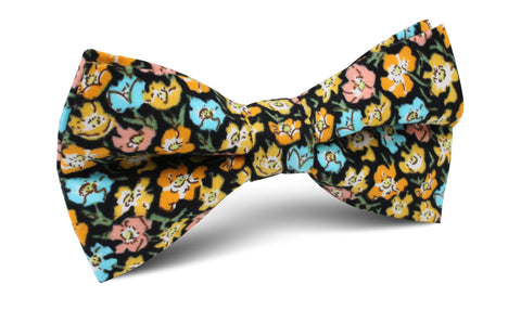 Huelva Yellow Floral Bow Tie