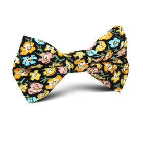 Huelva Yellow Floral Kids Bow Tie