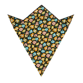 Huelva Yellow Floral Pocket Square