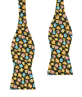 Huelva Yellow Floral Self Bow Tie
