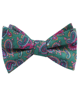 Hunter Green Isfahan Paisley Self Bow Tie