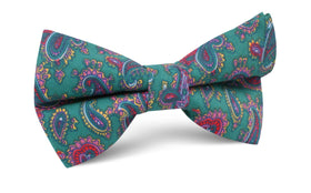 Hunter Green Isfahan Paisley Bow Tie