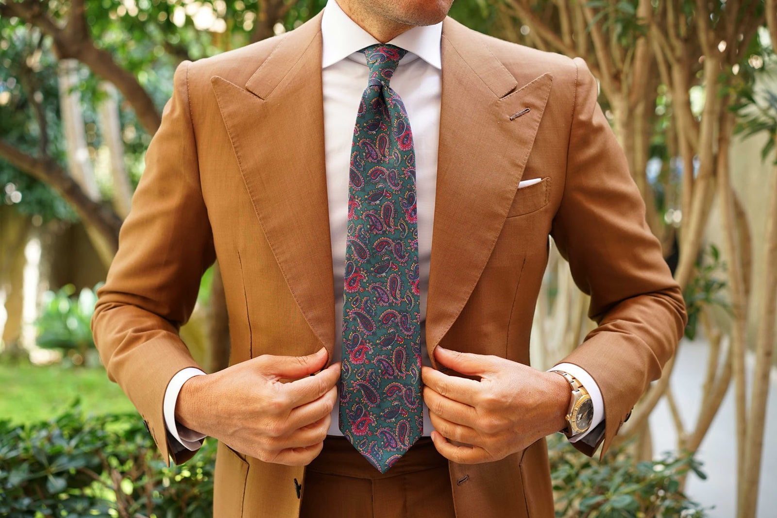 Hunter Green Isfahan Paisley Necktie
