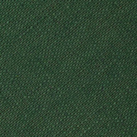 Hunter Green Slub Linen Pocket Square