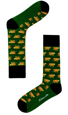 Hunting Tiger Green Socks