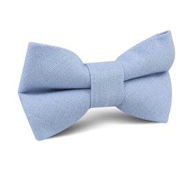 Ice Blue Linen Kids Bow Tie