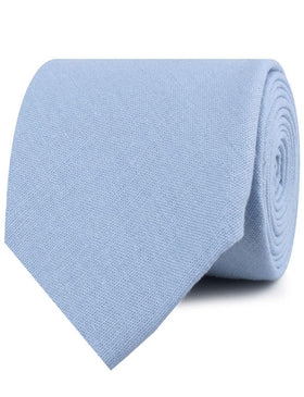 Ice Blue Linen Necktie