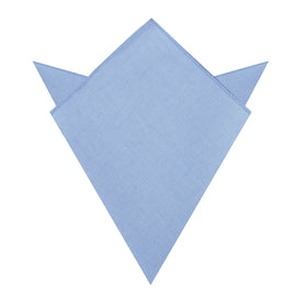 Ice Blue Linen Pocket Square