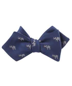 Indian Elephant Diamond Self Bow Tie