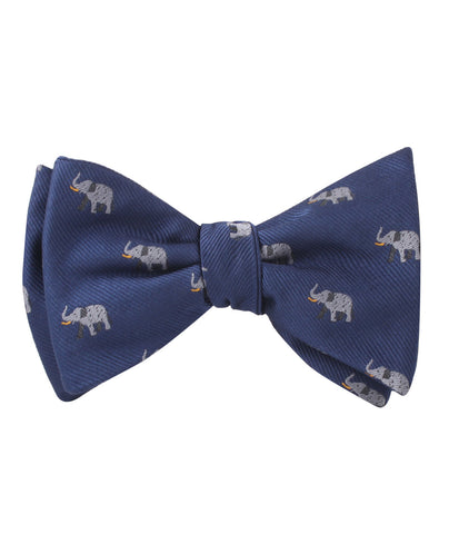 Indian Elephant Self Bow Tie