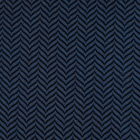 Indigo Blue Herringbone Pocket Square