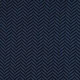 Indigo Blue Herringbone Pocket Square Fabric