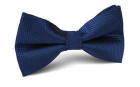 Indigo Navy Honeycomb Bow Tie