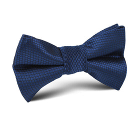 Indigo Navy Honeycomb Kids Bow Tie