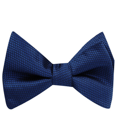 Indigo Navy Honeycomb Self Bow Tie
