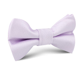 Iris Lilac Purple Weave Kids Bow Tie