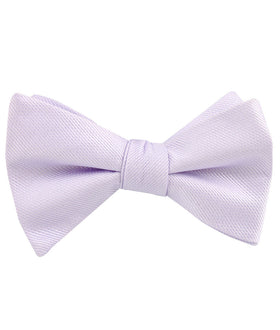 Iris Lilac Purple Weave Self Bow Tie