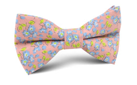 Isle of Skye Peach Floral Bow Tie