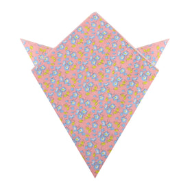 Isle of Skye Peach Floral Pocket Square